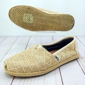 Toms | Classic Cream Diamond Canvas Shoes